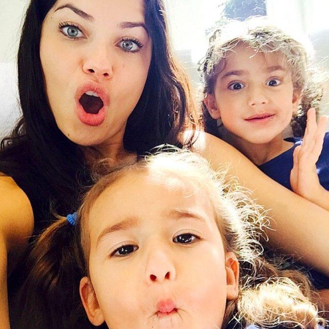victoria's secret baby dochter zoon adriana lima