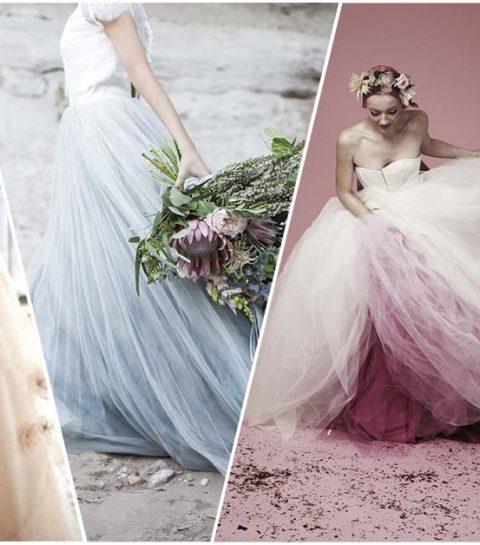 Waarom je niet langer voor een wit trouwkleed moet kiezen