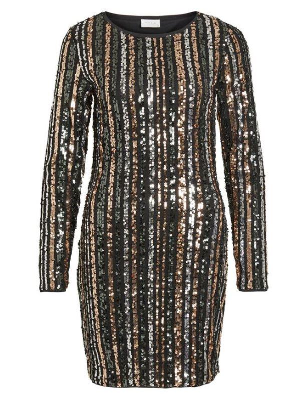 vila jurk feest pailletten