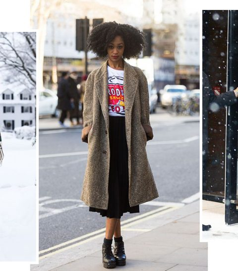 How to wear: Rokjes wanneer het sneeuwt