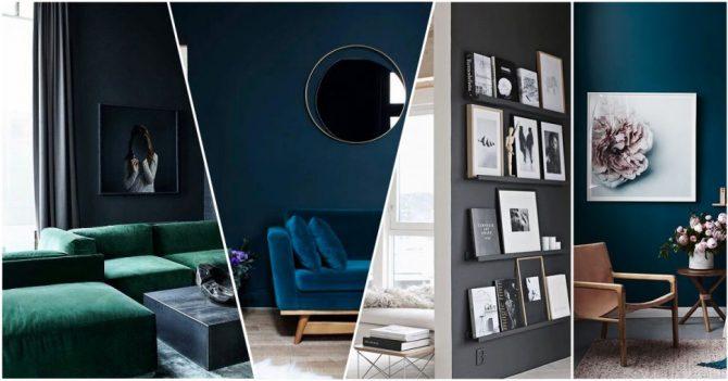 Redenen om voor donkere muren te kiezen in je interieur