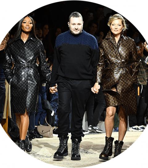 Iconen Kate Moss en Naomi Campbell sluiten de Louis Vuitton-show voor mannen af