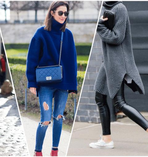 Hoe draag je een oversized trui het best?