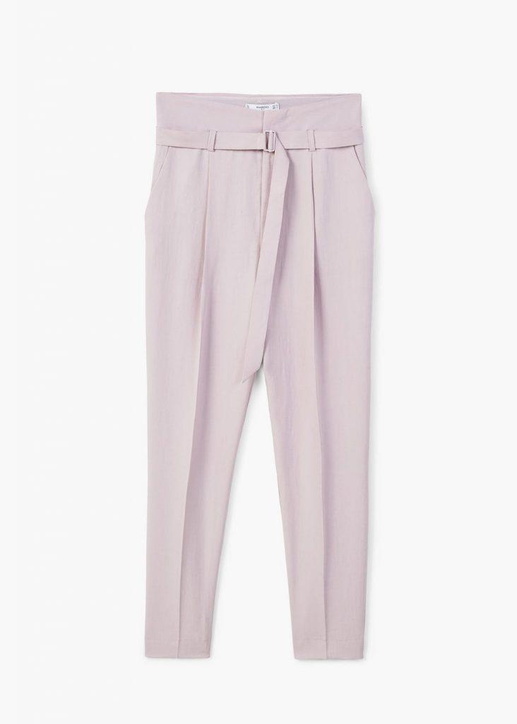shopping broek pastel paars lila kostuum blazer full look