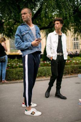 streetstyle, mannen, men, paris fashion week, outfits, inspiratie, lief, vriend, jongens, urban, baggy, neon, heuptasje, beanie, camouflage