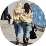 twinning fashion twin mode BFF streetstyle jeans