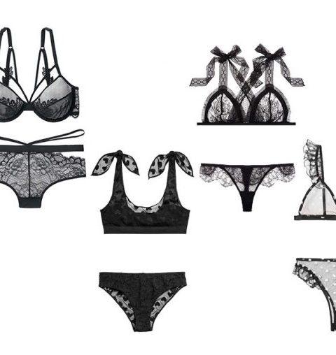 Valentijn: sexy zwarte lingeriesetjes