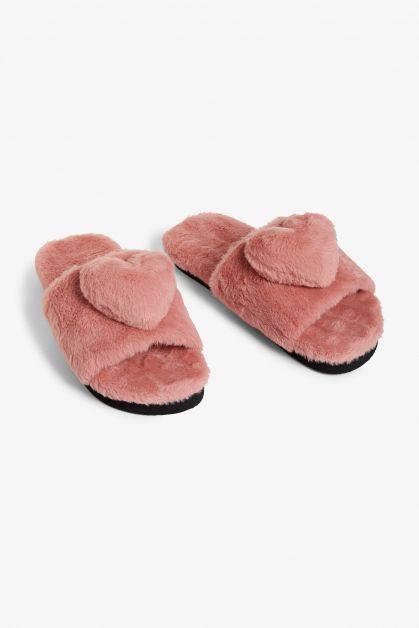 roze pantoffels slippers valentijn cadeau voor haar