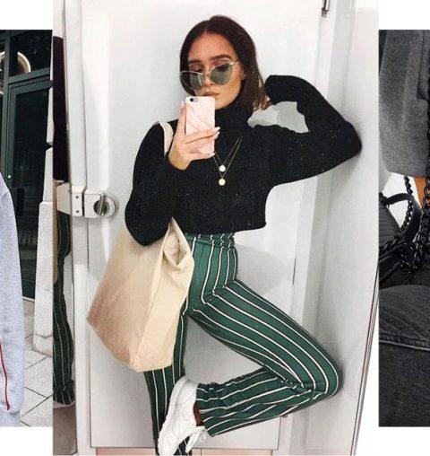 Hoe draag je een trendy cropped trui?