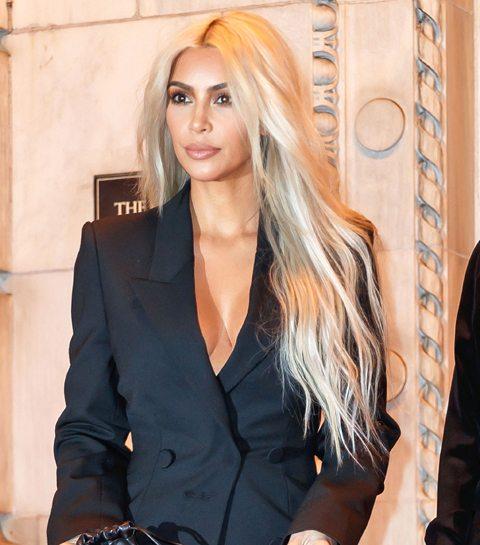 Kim Kardashian heeft een wel heel opvallend nieuw kapsel