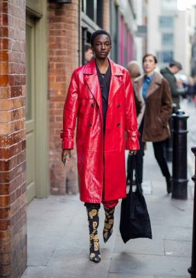 londen, modeweek, fashion week, rood, trend, streetstyle, outfit, look, inspiratie, 2018