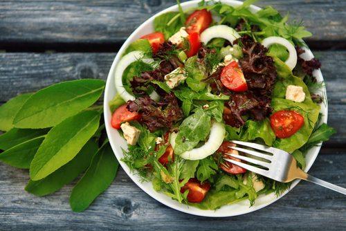 gezond, ongezond, eten, voedsel, dieet, slank, vermageren, healthy, salade