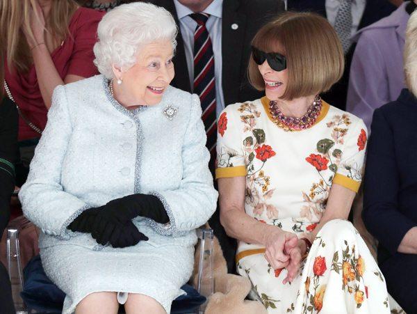 the queen elizabeth london fashion week