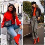 schoenen rode laarsjes fashion