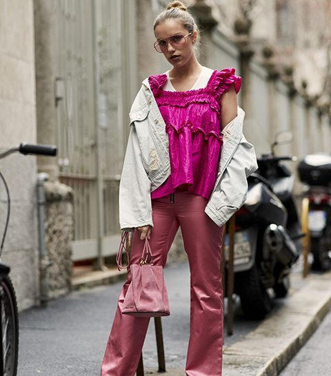 Streetstyle: Italiaanse fashionista's zien la vie en rose