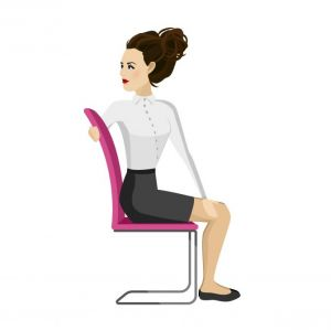 5 eenvoudige yoga-oefeningen die je op je bureaustoel kan uitvoeren - 1