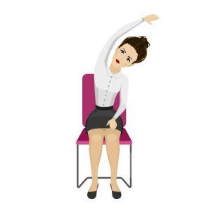 5 eenvoudige yoga-oefeningen die je op je bureaustoel kan uitvoeren - 2