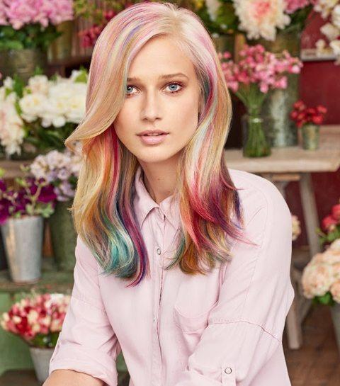HAARTREND: Color Marbling, regenboogmarmer op je haar