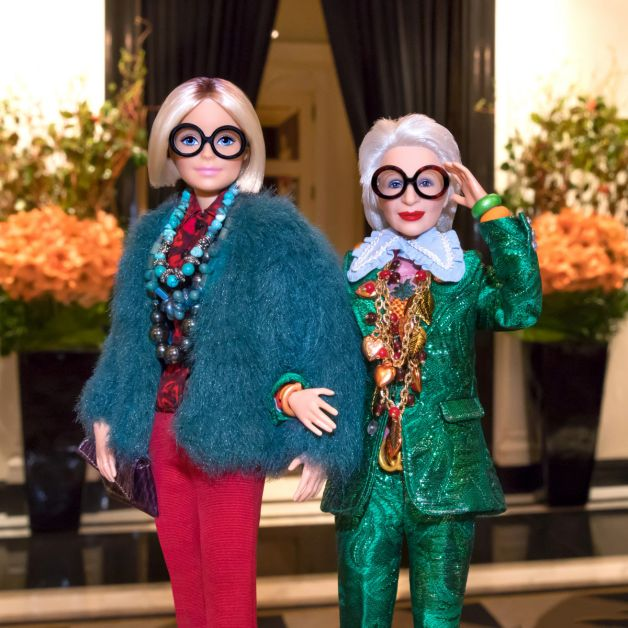 barbie, iris apfel, stijlicoon, gigi hadid, ashley graham