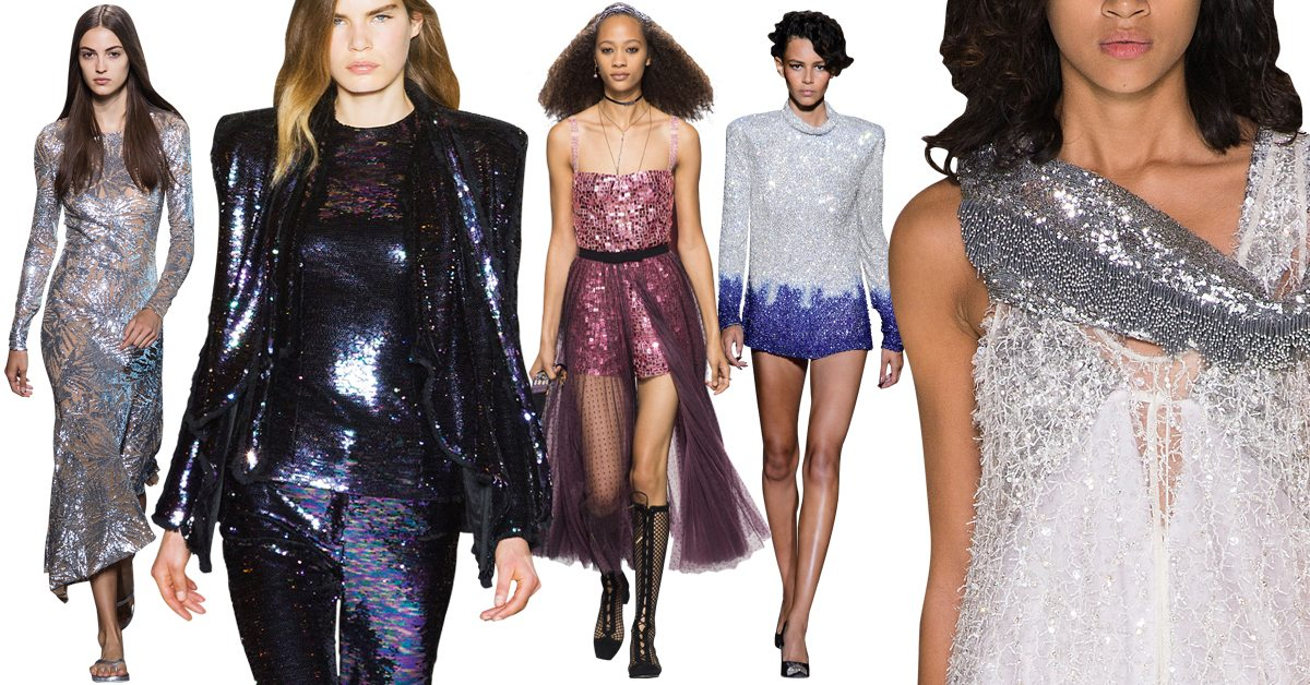 shopping glitter louis vuitton balmain dior tom ford michael kors catwalk ss18 fashion mode zomer 2018