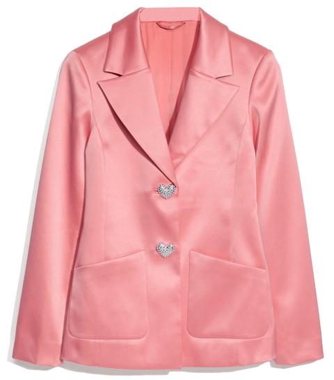 cute shopping roze hartjes hart blazer other stories
