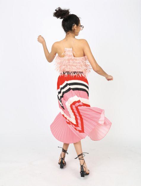 styling franjes tip fashion mode trick franjes franje pastel patrizia pepe dance dans prada cks hm rok rania