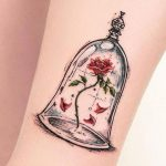 tattoo, disney, belle en het beest