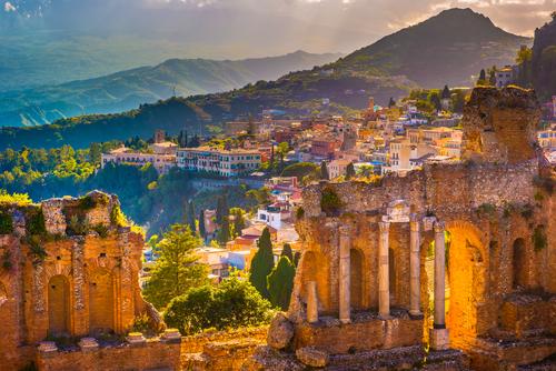 vakantie, eiland, reis, middellandse zee, sicilie, cultuur, taormina