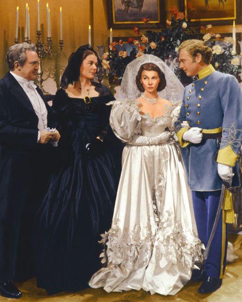 huwelijk, trouw, bruid, jurk, film, iconisch, cinema, gone with the wind