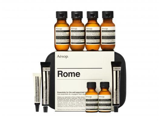 Aesop Rome citytrip must haves reiskoffer