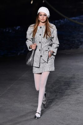 chanel, cruise, collection, resort, 2019, bella hadid, gigi hadid, stella maxwell, kristen stewart, lily-rose depp, catwalk, runway
