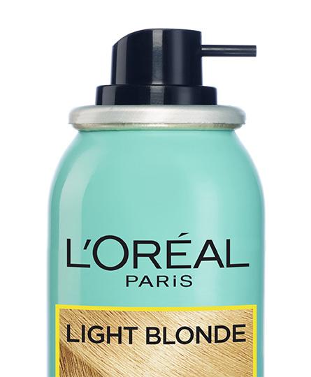 uitgroei spray blond haar