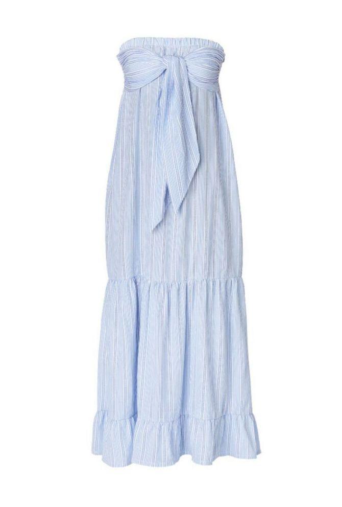 jurk strepen zonder mouwen strand