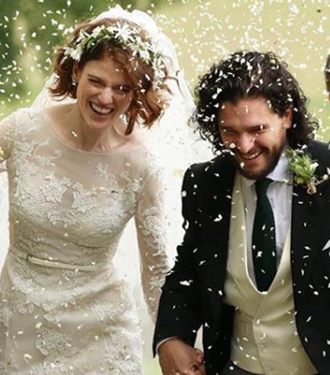 Hoera: Jon Snow en Ygritte stappen in het huwelijksbootje