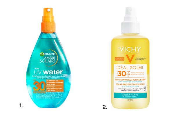 zonnecrèmes texturen water garnier vichy