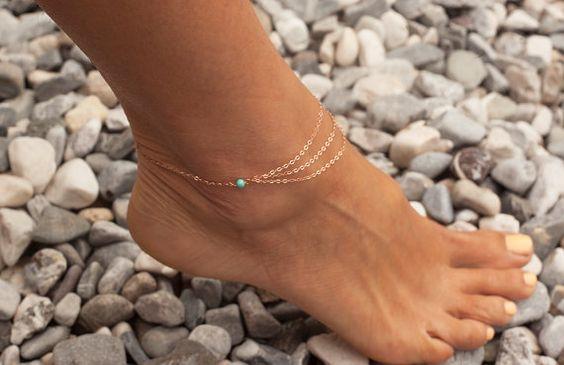 enkelbandje, zomer, juwelen, trend, boho, elegant, goud, zilver, shopping