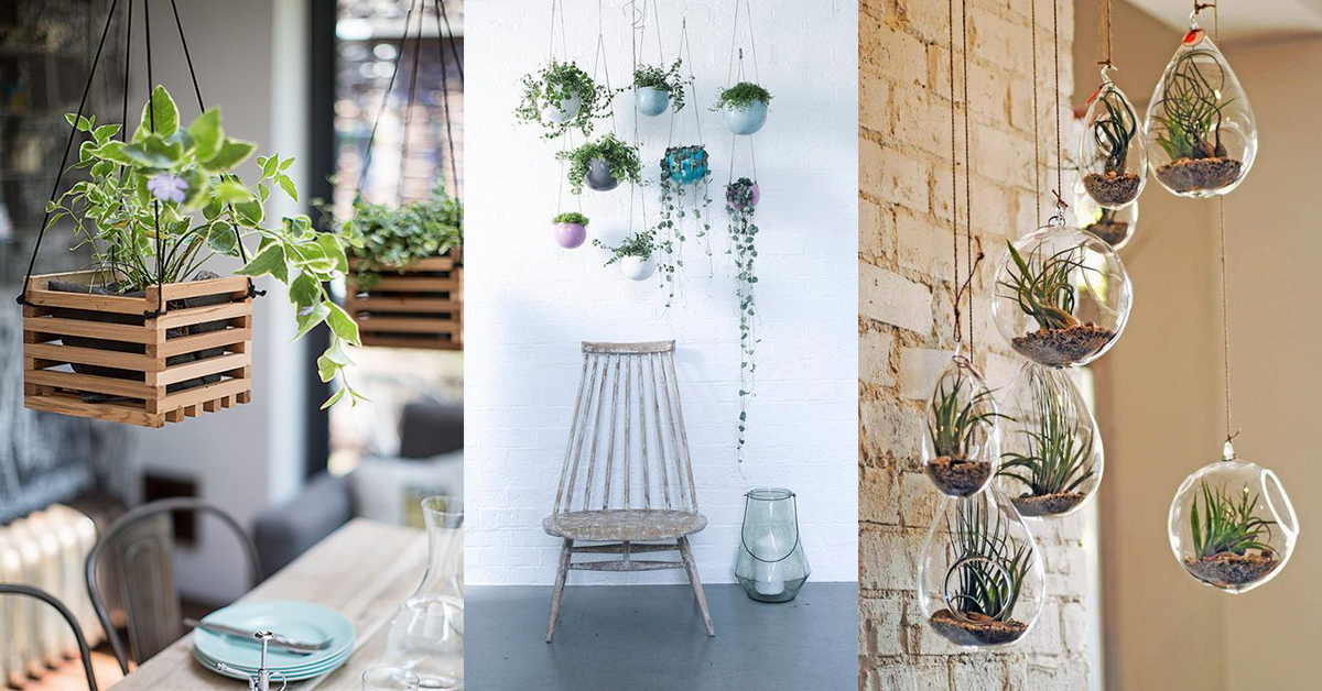 Deco originele ideeën om planten op te hangen