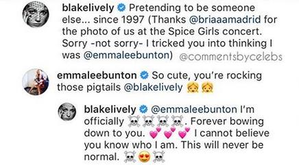blake lively emma bunton spice girls instagram