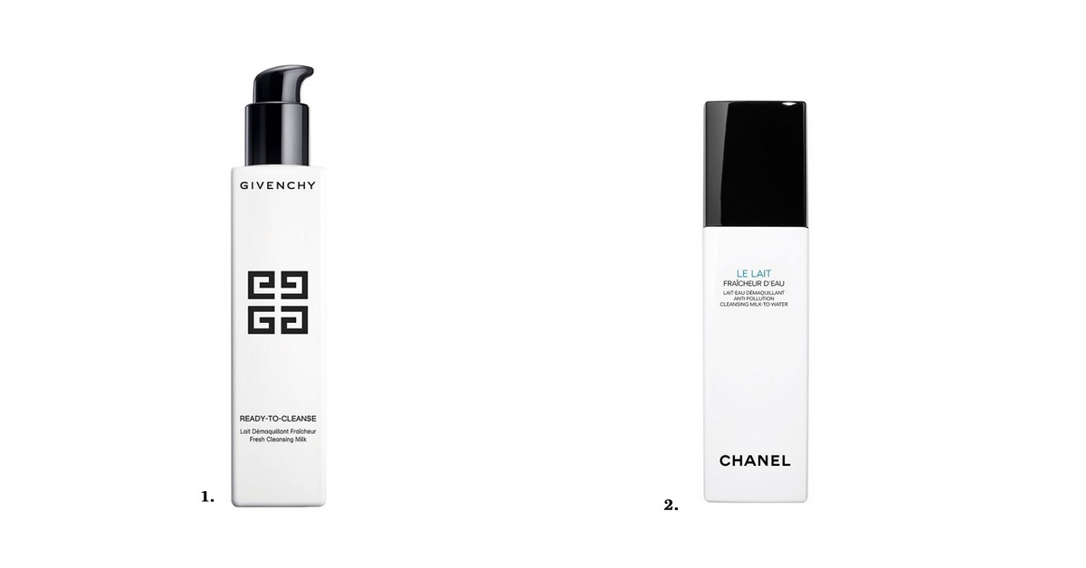 cleansers melk lait chanel givenchy