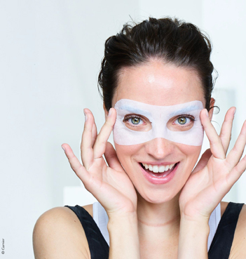 studenten beauty sheetmask garnier ogen