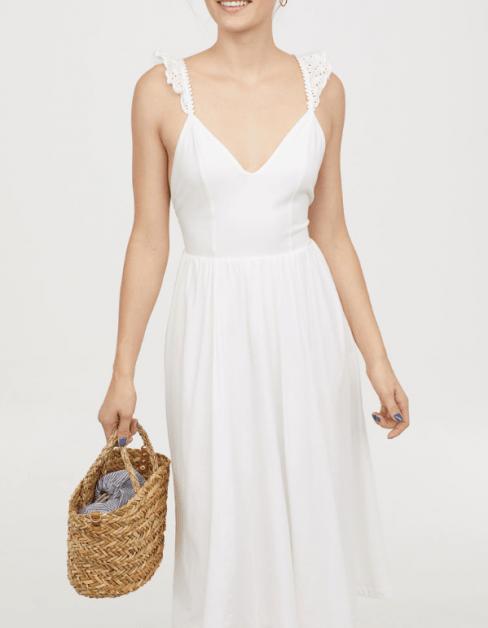 hm_zomer jurk wit