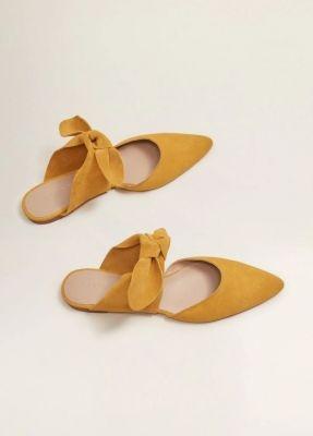 mango lage schoenen oker geel shop