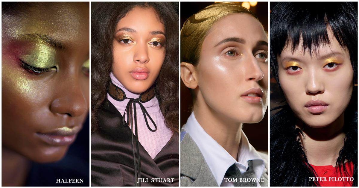 beautytrens make-up najaar 2018 goud