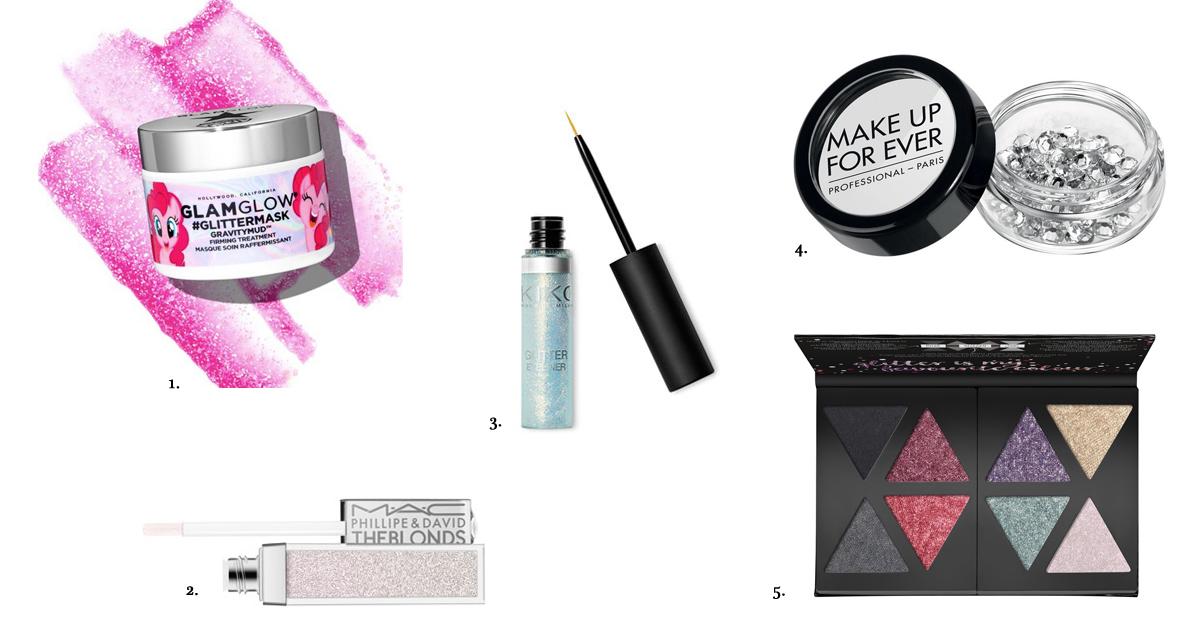 beautytrends make-up najaar shopping glitter