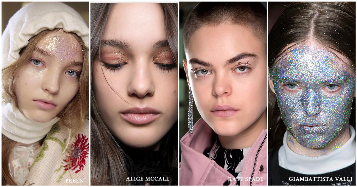 beautytrends najaar make-up glitter