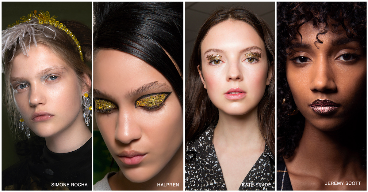 make-uptrends spring 2019 glitter