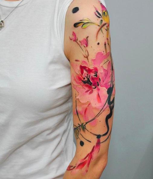tattoo, tatoeages, inspiratie, aquarel, artist, dopeindulgence