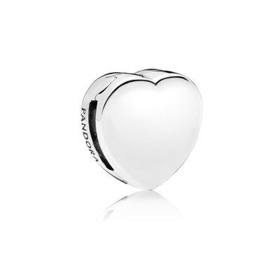 Pandora – Autumn 2018 – Reflexions – Silver Heart Fixed Clip Charm – 29 euros