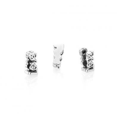 Pandora – Autumn 2018 – Reflexions – Silver Love Fixed Clip Charm – 25 euros