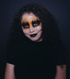 Halloween make-up tutorial: pompoenogen